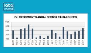 Porcentaje de Crecimiento de Exportaciones de Camarón