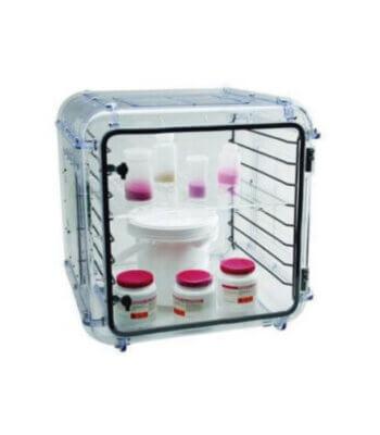Gabinete desecador - Método de gas seco