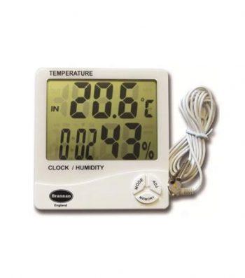Termómetro Digital de -50 a 70 °C, Higrómetro de 20 a 99%