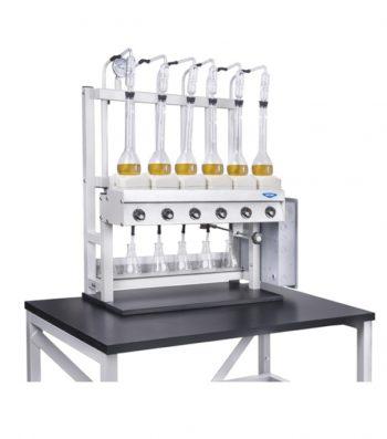 Destilador Kjeldahl de 6 puestos
